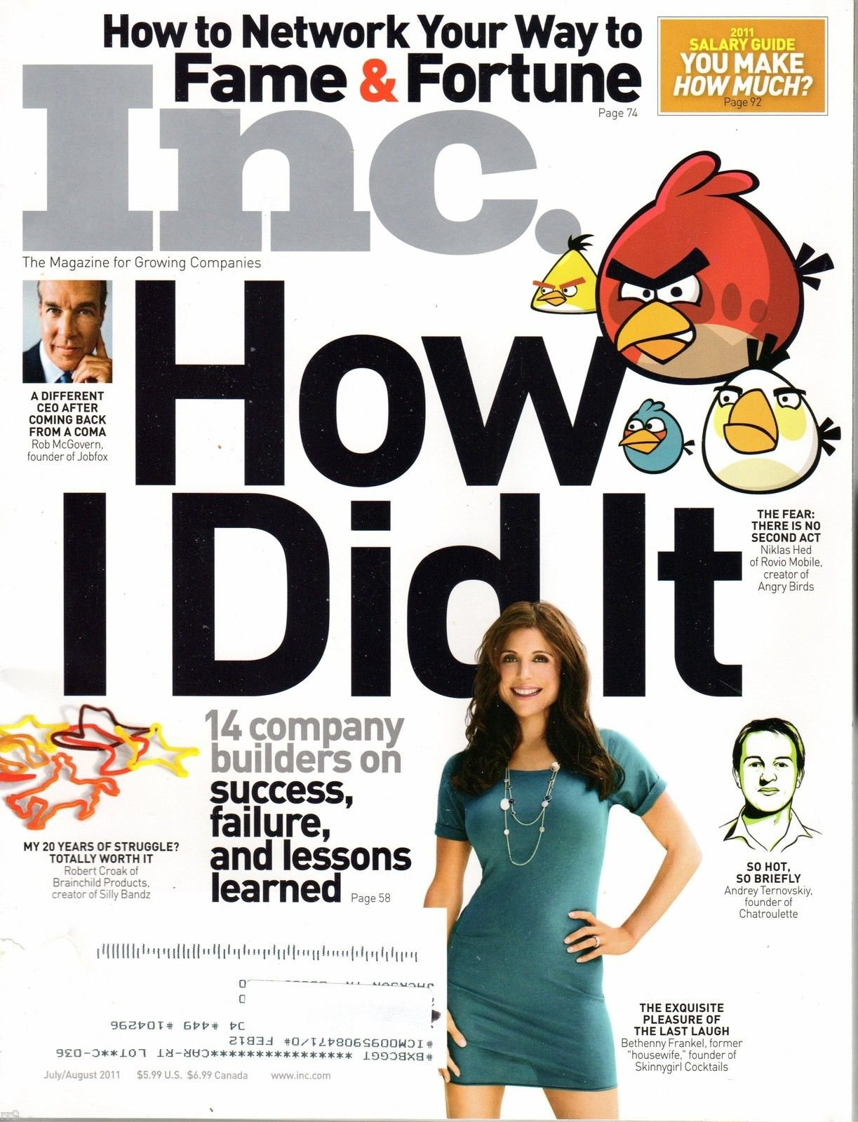 "Download Inc. Magazine July / August 2011 Bethenny Franker Cover ""How I Did It"" pdf epub"