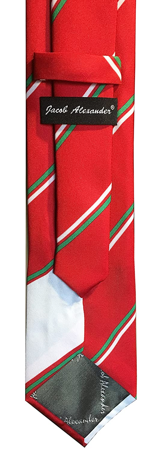 Jacob Alexander Mexico Flag Men/'s Necktie Mexican Red Tie Diagonal White Green