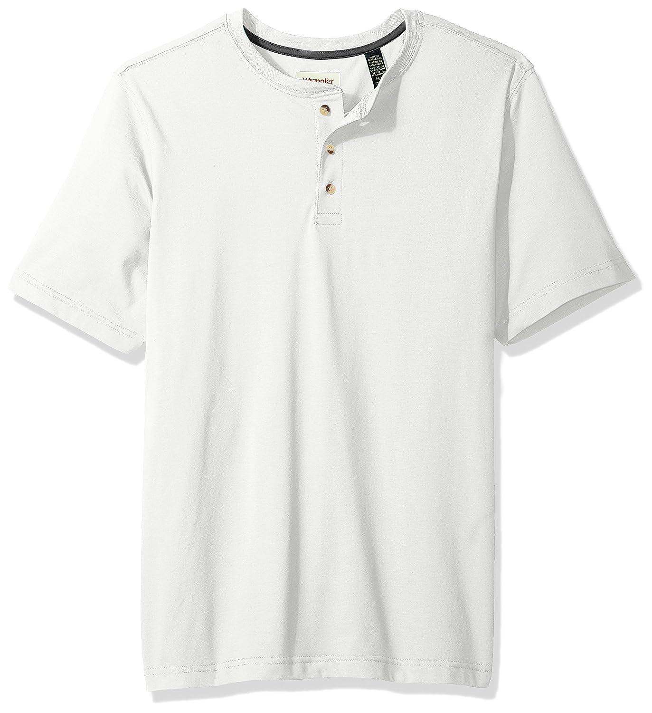 Wrangler Authentics Mens Short Sleeve Henley Tee