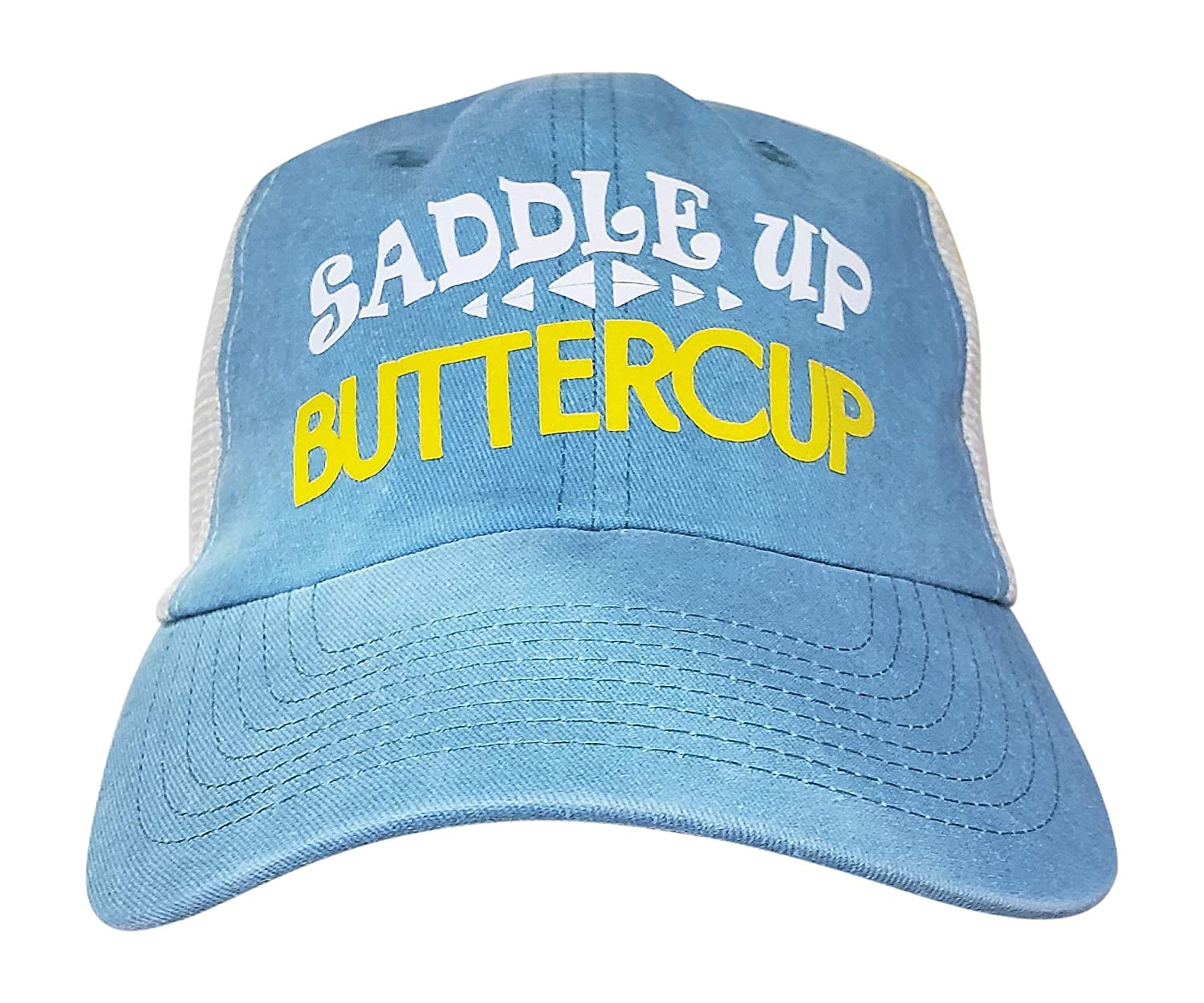 b885c260 Amazon.com: Muddy Carrots Pigment Dyed Trucker Hat Cotton Horse Hat (Saddle  Up Buttercup) Snapback with Mesh Back Aqua: Clothing