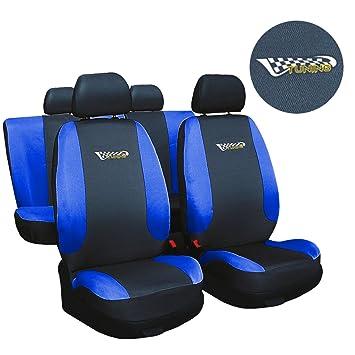 Universal Auto Sitzbezüge Sitzbezug Schonbezüge Tuning Blau Komplettset Top
