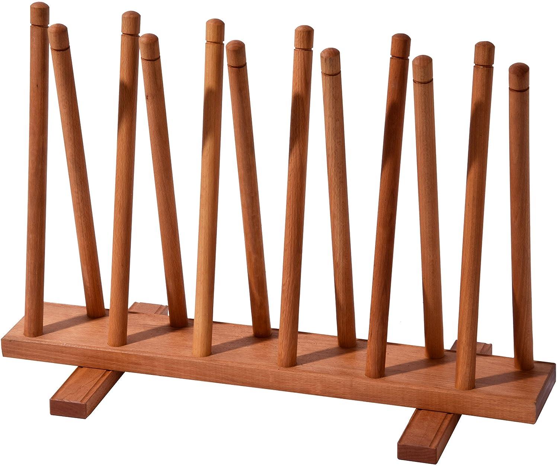 Dobar 29781e Stiefelhalter aus Holz, Schuhablage, 3 Paar   Gummi   Reitstiefel, Schuhhalter 69 x 31 x 48 cm, braun