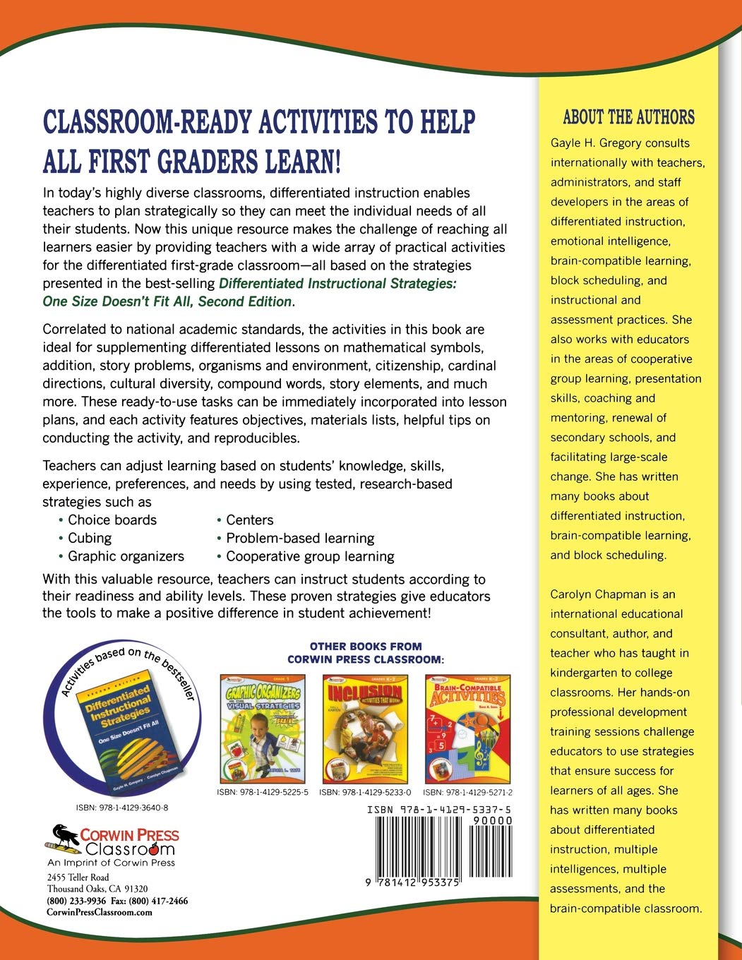 Buy Activities for the Differentiated Classroom (Grade 1