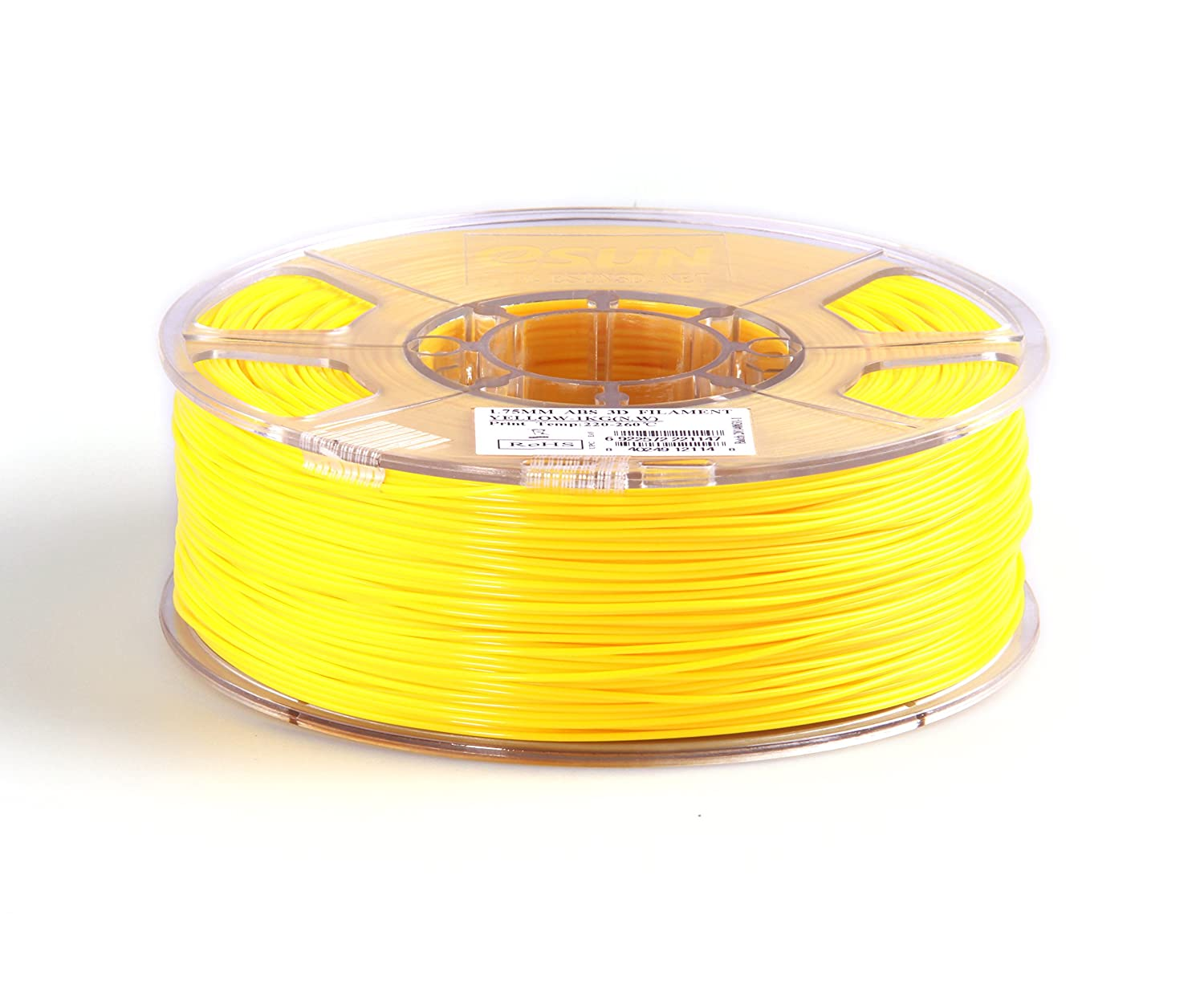 eSUN 1.75mm Yellow ABS 3D Printer filament 1kg Spool 2.2lbs Yellow ABS175Y1