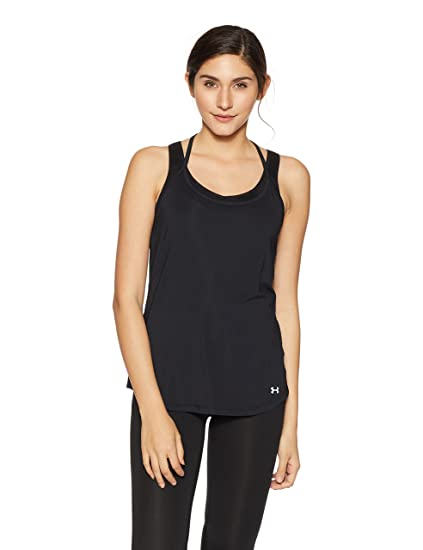 14a6b0fac49db Amazon.com   Under Armour Women s Fly-By Racerback Tank   Sports ...