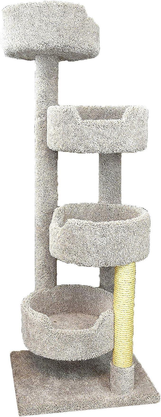 Amazon Com New Cat Condos Beige Large Cat Stairway Pet Supplies