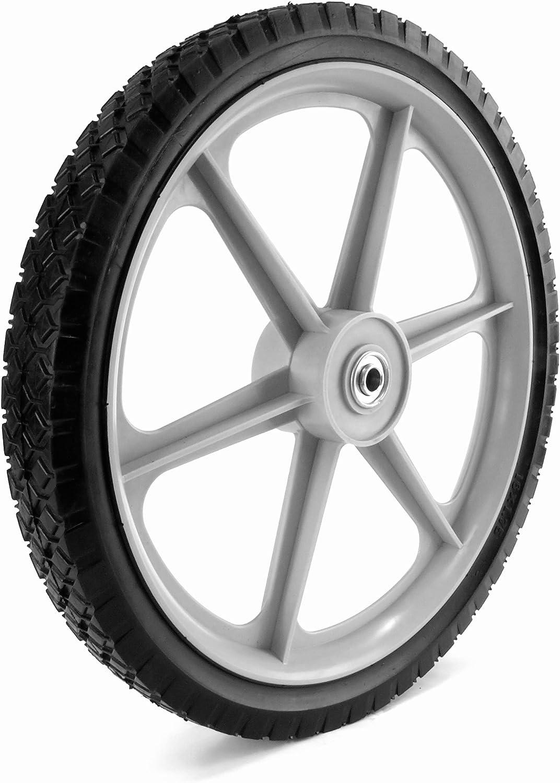 Martin Wheel PLSP16D175 16 by 1.75-Inch Plastic Spoke Semi-Pneumatic Wheel for Lawn Mower, 1/2-Inch Ball Bearing, 2-3/8-Inch Centered Hub, Diamond ...