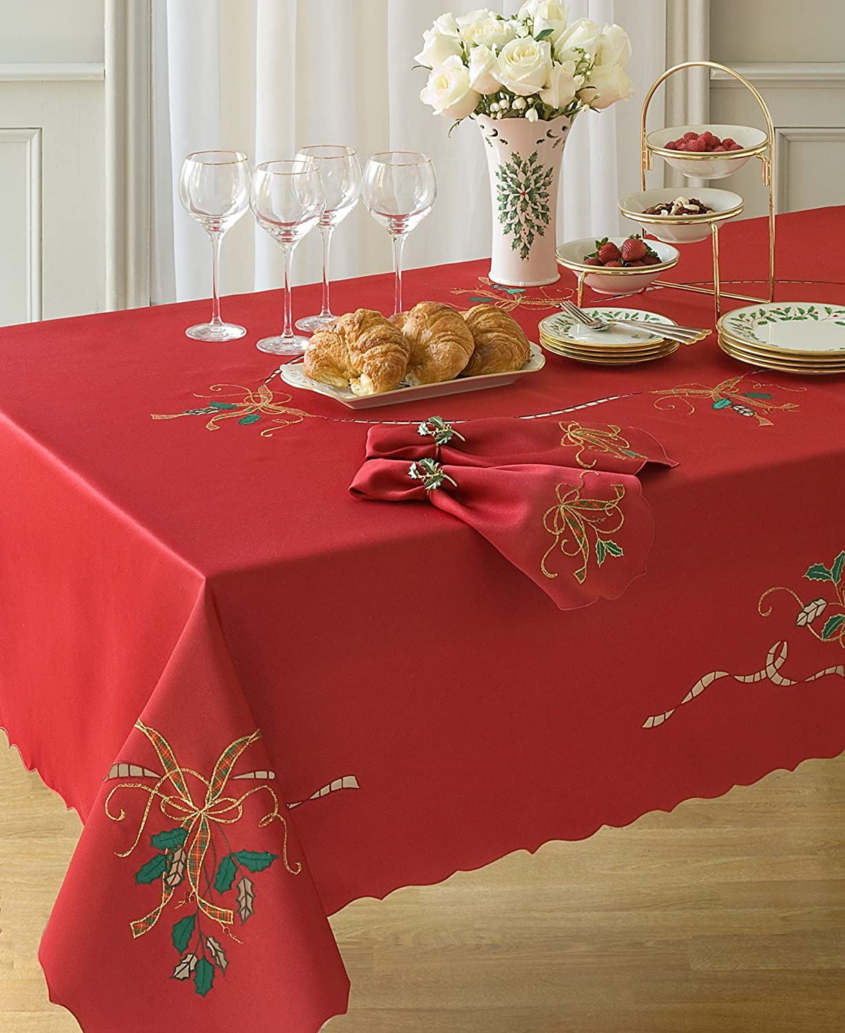 Amazon Lenox Holiday Nouveau Tablecloth 60 By 120 Inch Oblong