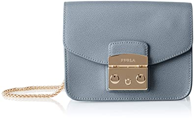 Furla Women's MeTropolis Mini Crossbody Cross-Body Bag Blue (Dolomia)