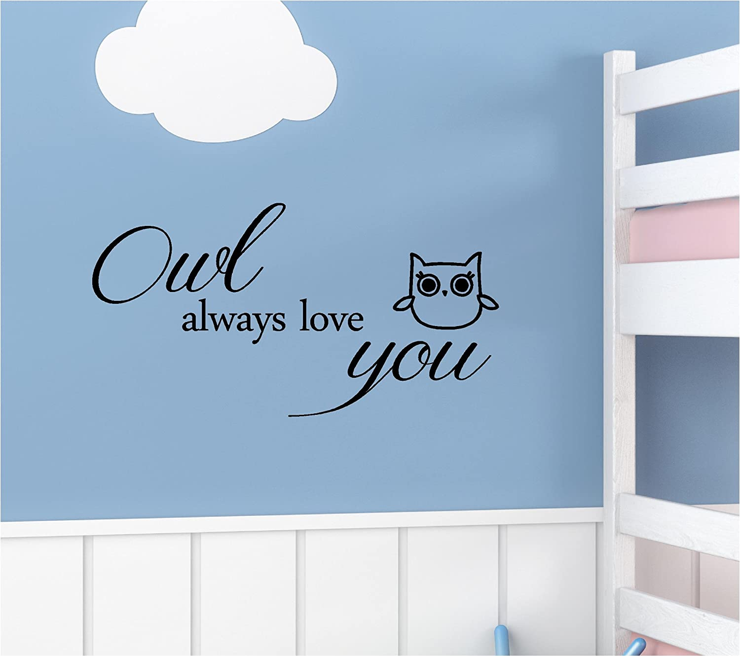 Owl Always Love You Vinyl Wall Art Inspirational Quotes Decal Sticker