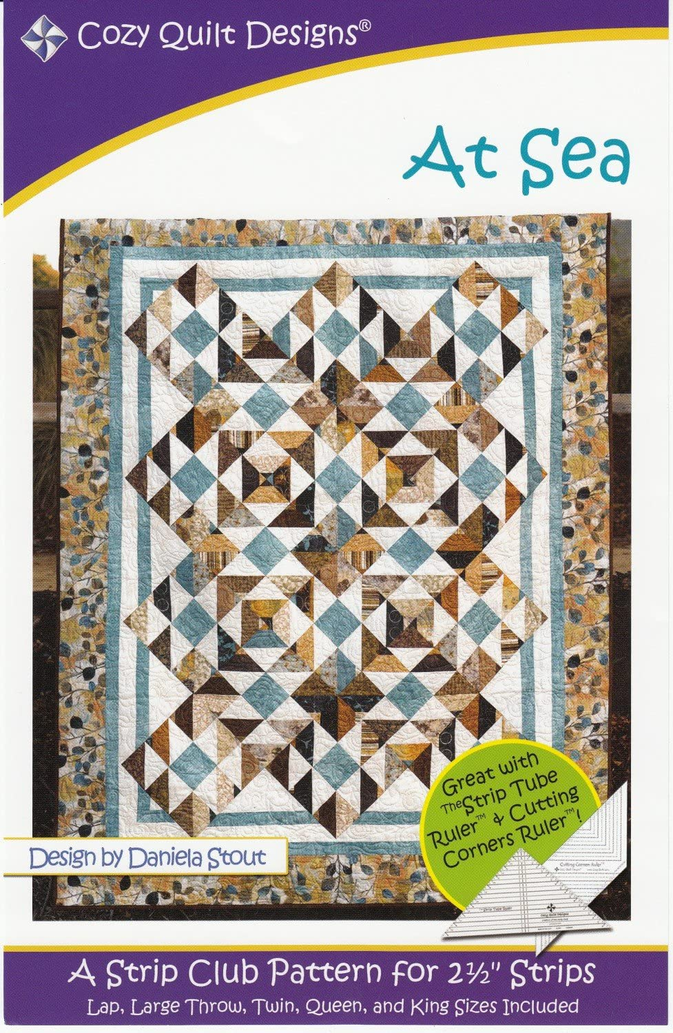 FREE Shipping Coupon - See Description Cozy Quilt Designs  CQD01081 EARLY LIGHT   *A Pieced Strip Club Pattern for 2-12 Strips*    By