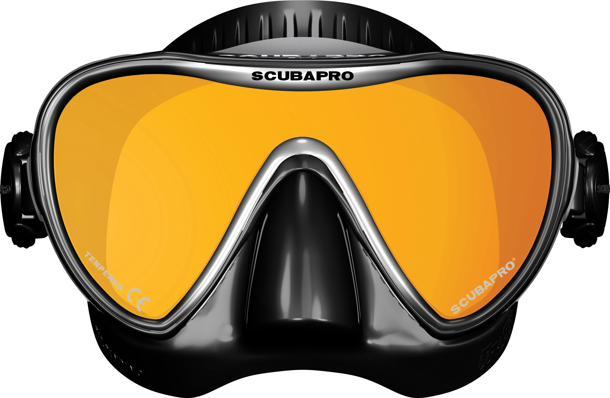 ScubaPro Synergy 2 TruFit Mirrored Single Lens Mask,Black/Silver/Mirror by Scubapro