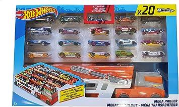 Hot Wheels 2137797 Hotwheels Mega Hauler 20 Coches vehículo de Juguete: Amazon.es: Juguetes y juegos
