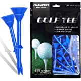 Champkey Big Cup Plus 3-1/4' Golf Tees(Pack of 30pcs or 50Pcs) - Oversize Head Reduce Friction & Side Spin,More Durable…