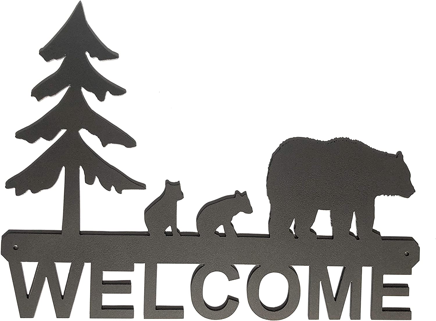 """Eagle Eye Products LLC Bears with Cubs Welcome Sign 