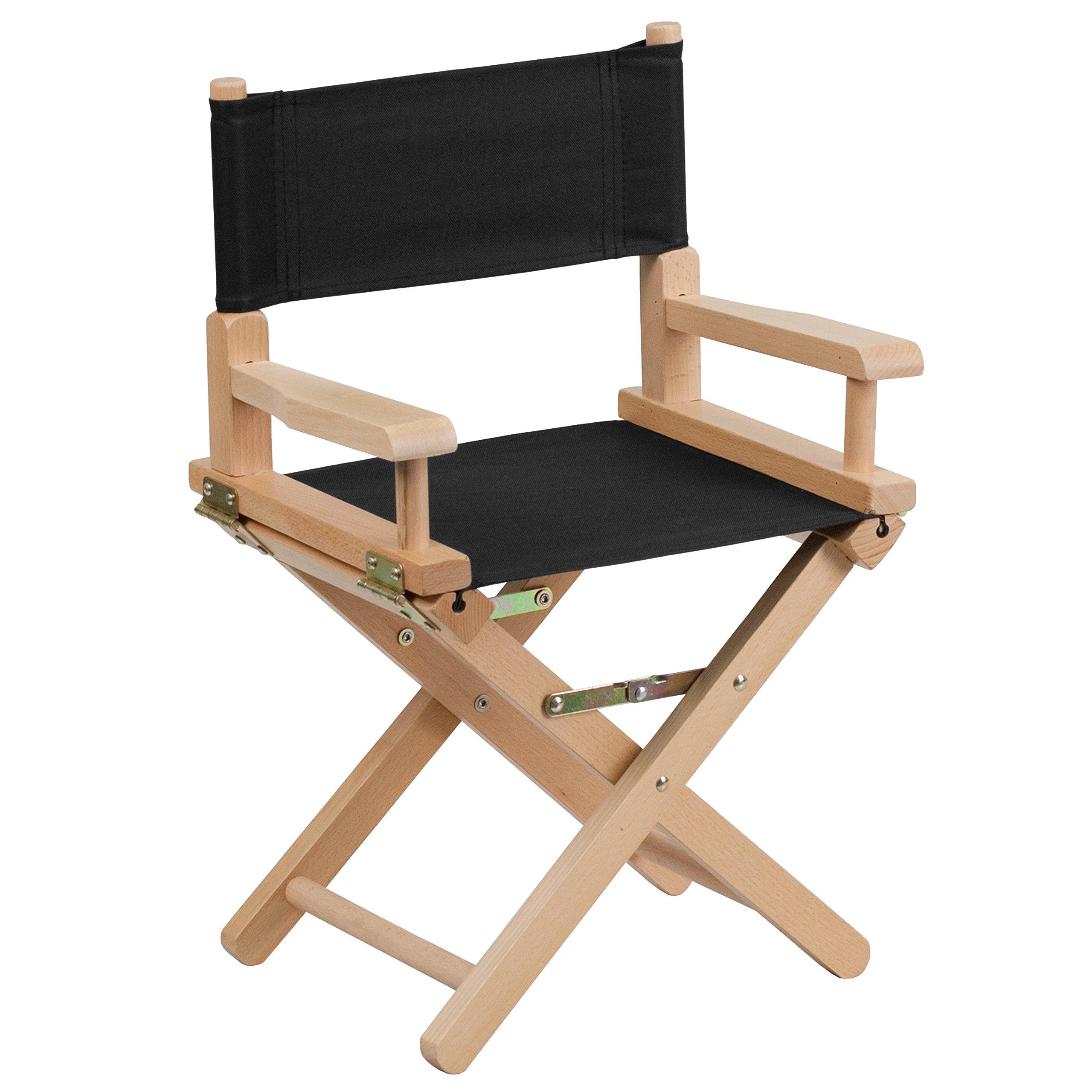 Flash Furniture Kid Size Directors Chair in Black