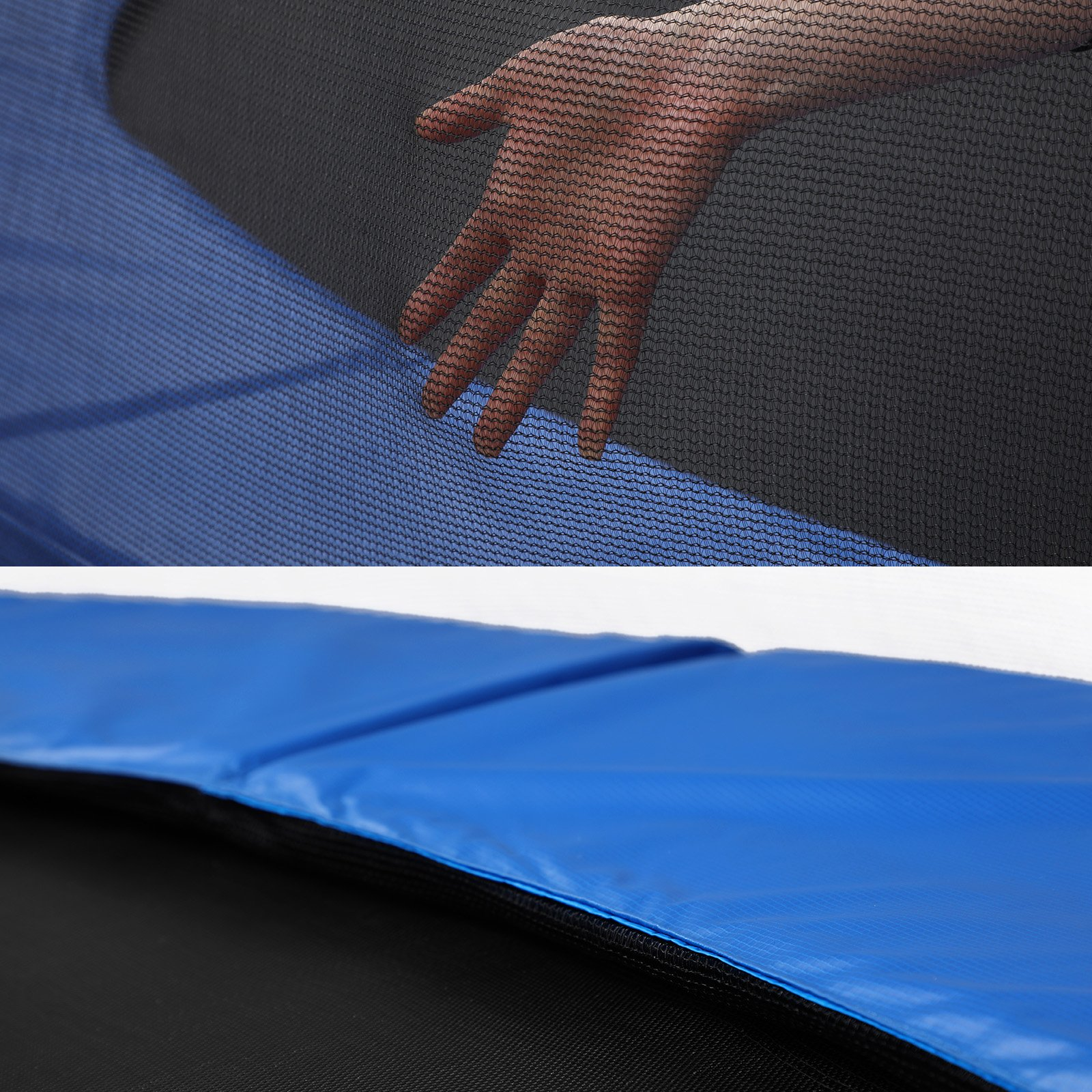 SONGMICS Outdoor Trampoline 12-Feet for Kids with Enclosure Net Jumping Mat and Spring Cover Padding TÜV Rheinland Certificated According to ASTM and GS Standard Blue USTR12FT by SONGMICS (Image #8)