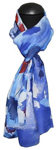 tessago - Fular - para mujer Azul azul claro Talla única