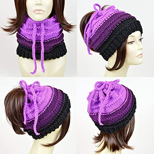a0ac81e5df6 ... real little mermaid ursula ponytail hat scarf knit disney hat ursula  beanie octopus hat disney beanie
