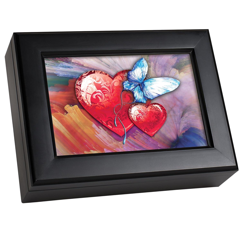 配送員設置 Cottage Garden World Hearts Matte Black Music Box Music Jewellery/ Jewellery Box Plays Wonderful World B00BRX7UWK, 本山御用達の数珠店京都念珠や:f6f4d79f --- arcego.dominiotemporario.com