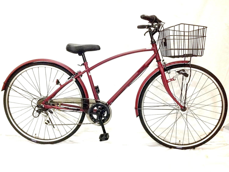 クロスバイクとママチャリの中間の自転車 27インチ サントラスト コチニールレッド ピスキス B01N9UWB5S