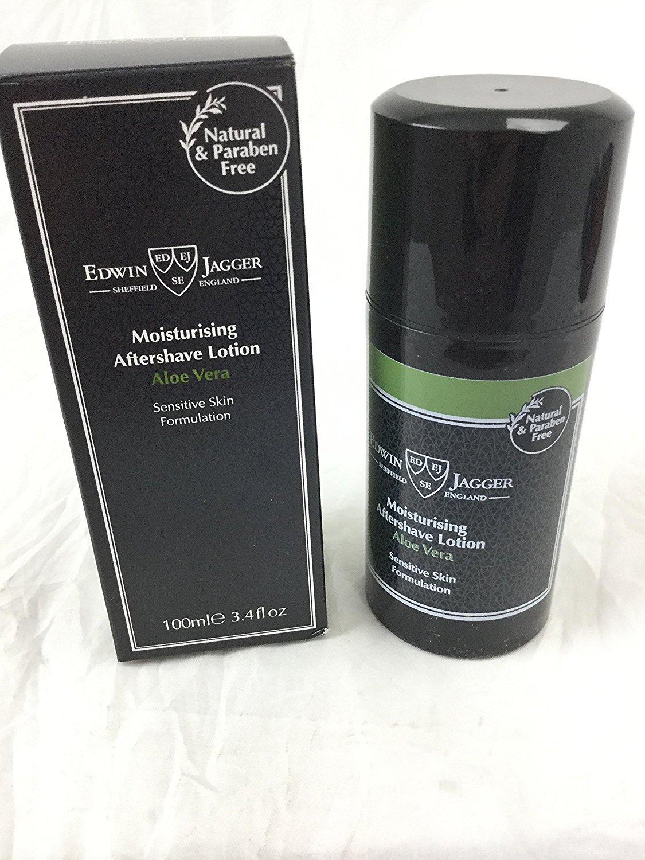 Edwin Jagger - Lotion après-rasage hydratante 99, 9% naturel - Aloe Vera - 100 ml ASLAV