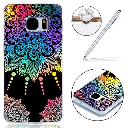 92ca67e5ca3 felfy Samsung Galaxy S7 Carcasa Transparente, Galaxy S7 Fundas Diseño, Galaxy  S7 Case Silicona Ultrafina Soft ...
