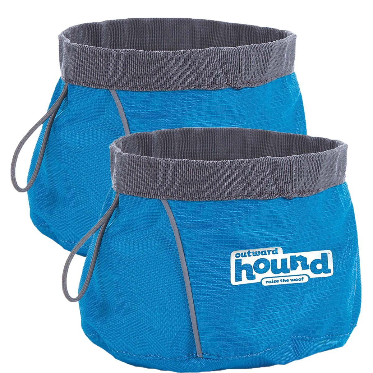 Port a Bowl Collapsible Hiking and Travel Folding Food and Water Bowl for Dogs by Outward Hound, Large (2 Pack) by Outward Hound