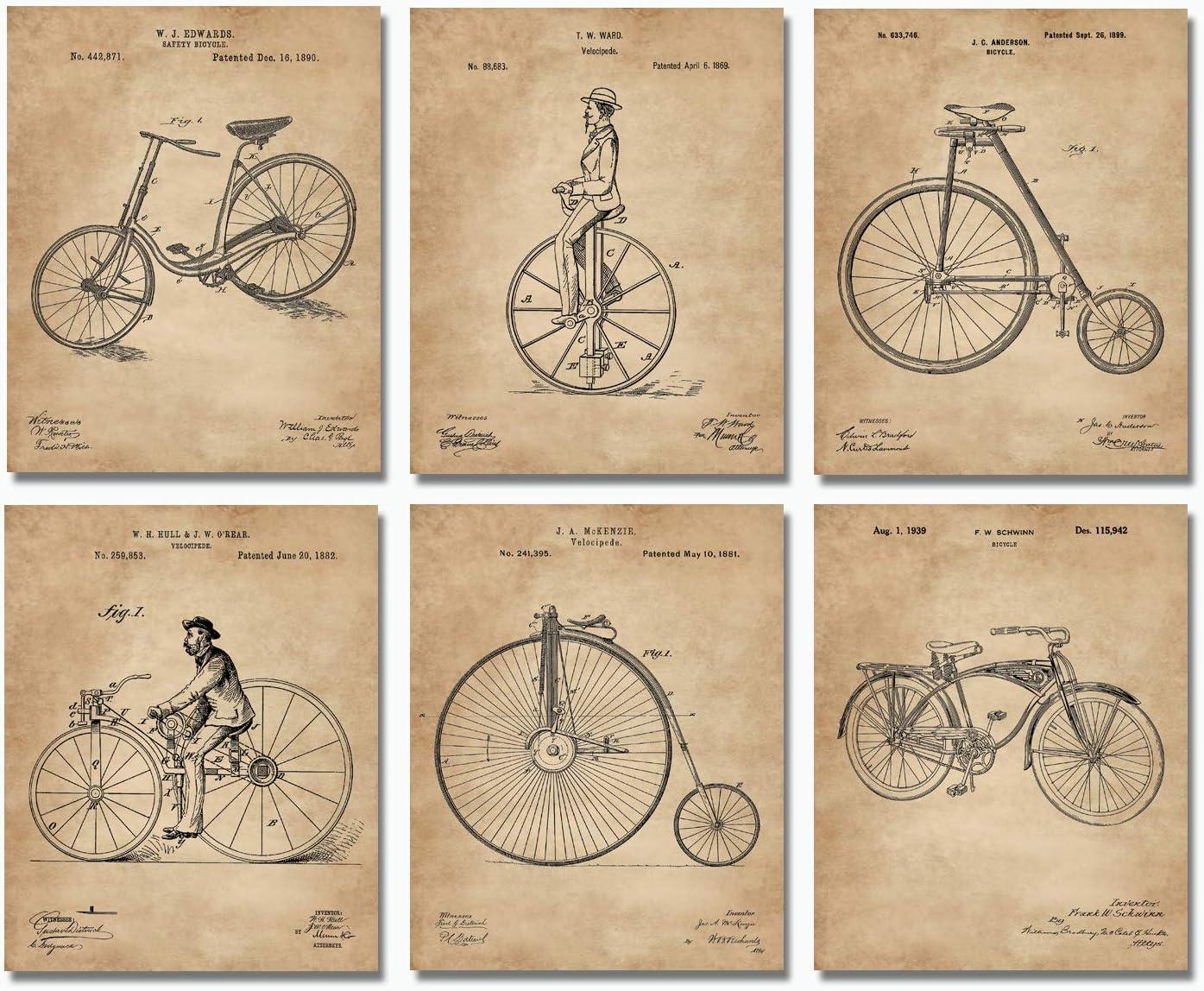 Bicycle Patent Wall Art Prints - 8
