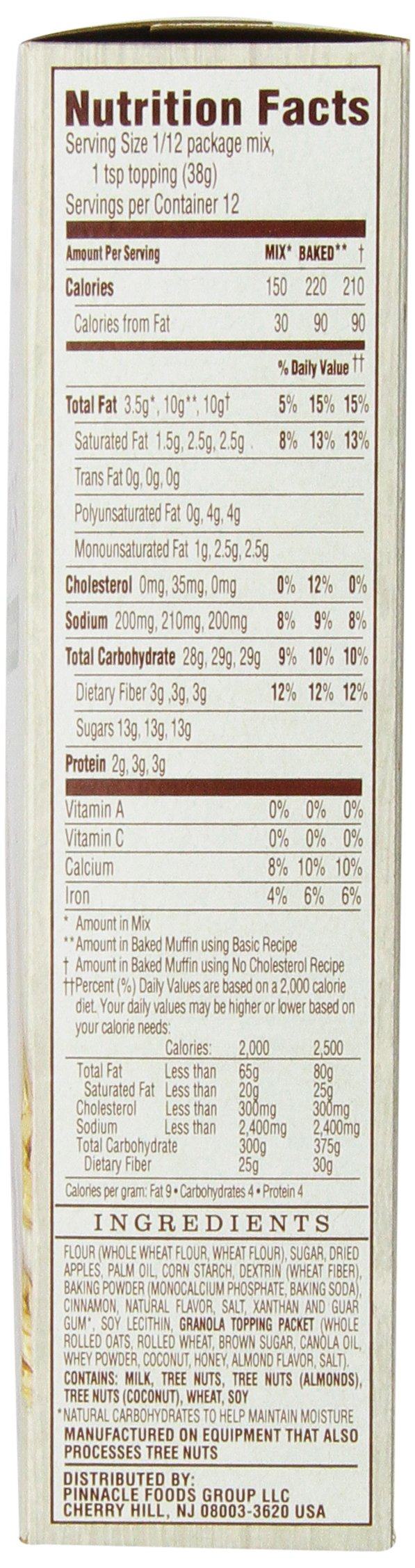 Duncan Hines Simple Mornings Oatmeal Muffin Mix, Apple Cinnamon, 16.1-Ounce (Pack of 12) by Duncan Hines (Image #4)