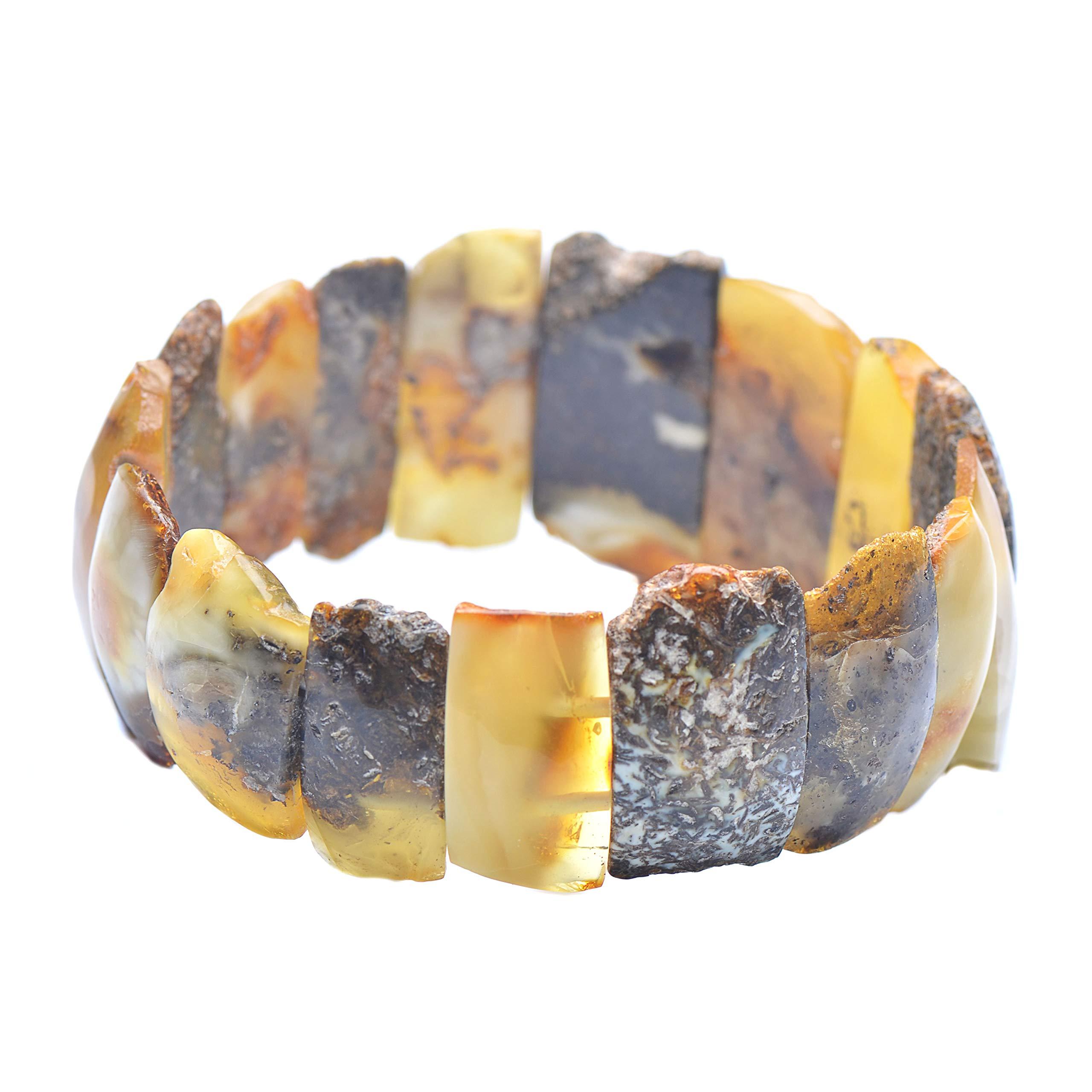 Colorful Amber Bracelet - Vintage Bracelet - Amber Bracelet - Vintage Amber Bracelet - Baltic Amber Bracelet by Genuine Amber (Image #3)