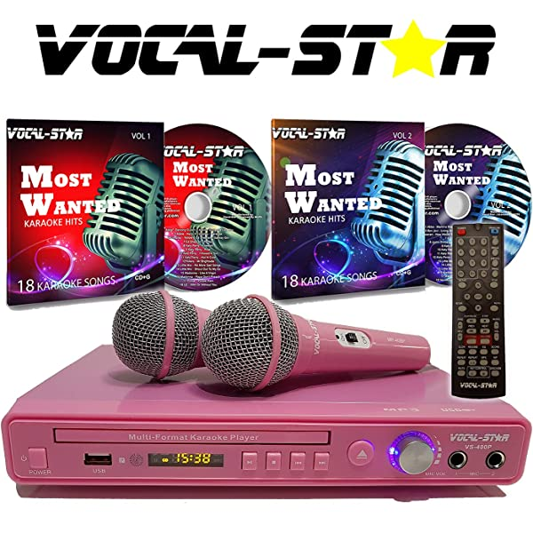 Professional Quality Ideal For Singing Vocals PA DJ Karaoke Vocal-Star 2 Wireless Microphones /& Carry Case Dual Pair of Handheld Microphones