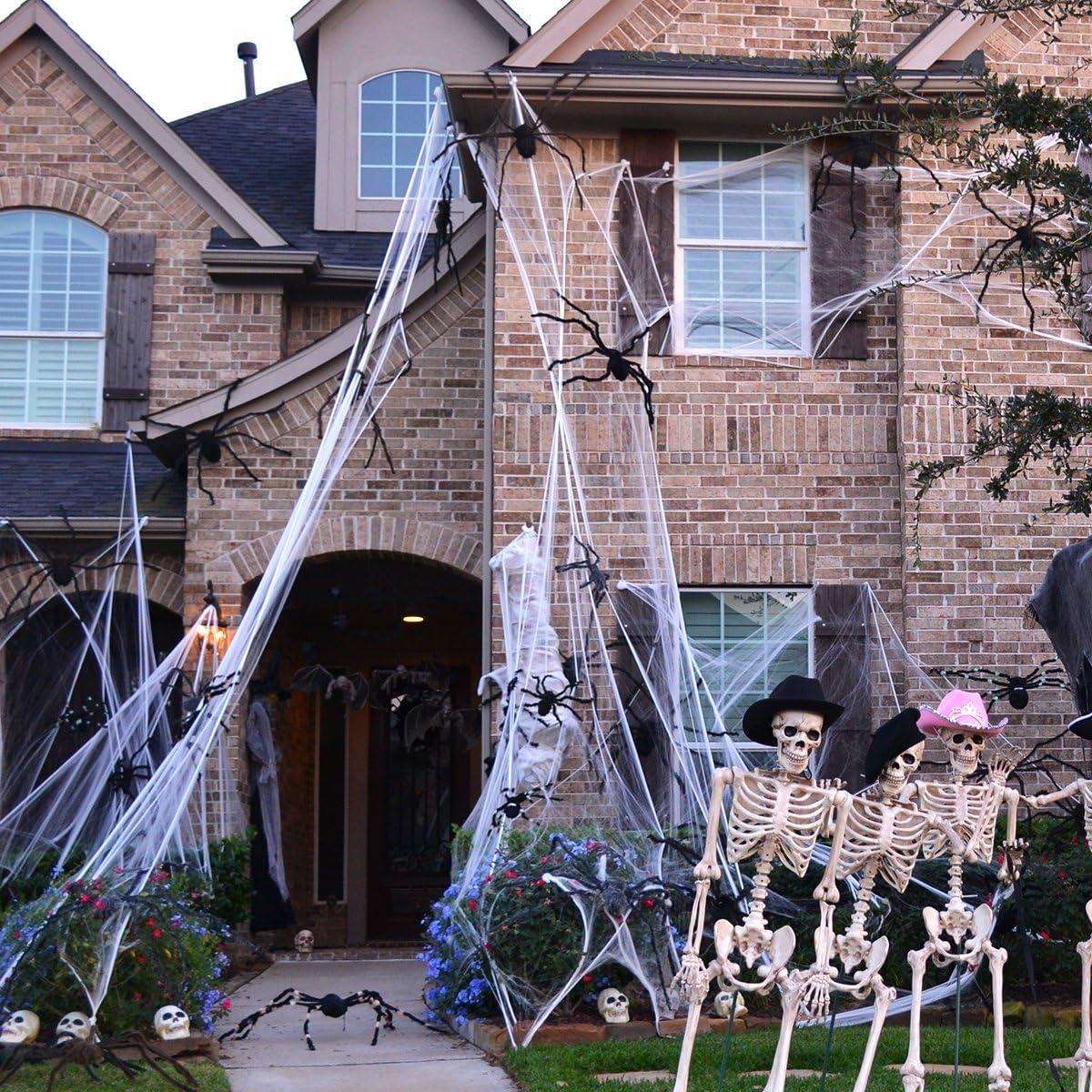 1000 Sq Ft Halloween Decoration Spider Web Outdoor Indoor