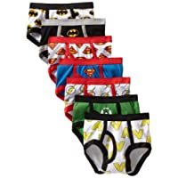 Handcraft Little Boys'  Justice League Logo Brief (Pack of 7)