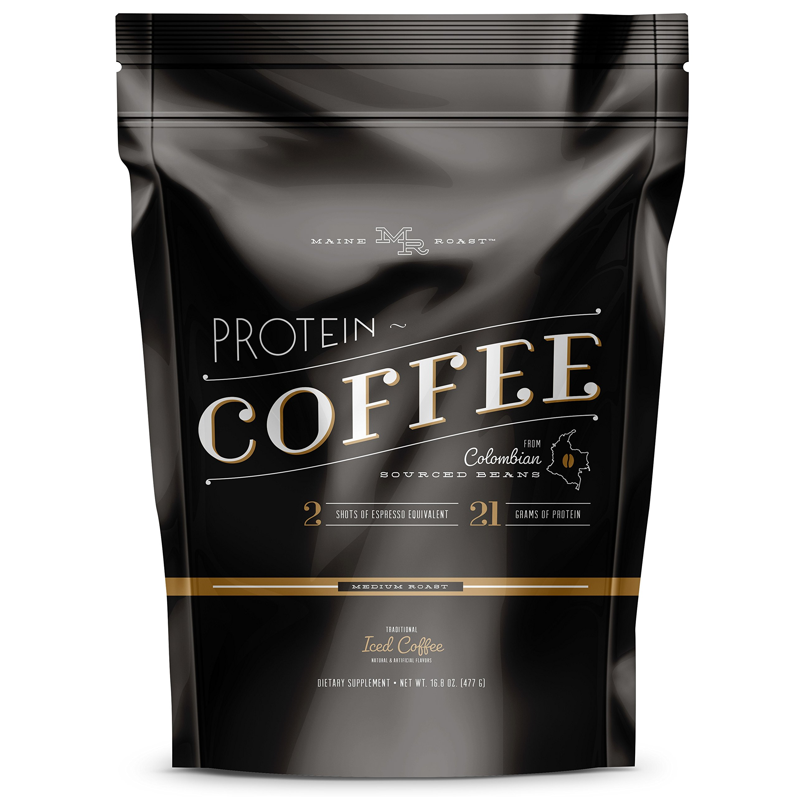 Complete Nutrition Maine Roast Protein Coffee, Iced Coffee, High Protein Coffee, Whey Protein
