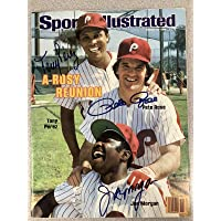 $310 » Joe Morgan Signed Sports Illustrated w Perez Rose Autograph No Label 3/14/83 JSA - Autographed MLB Magazines