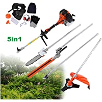 TryE 52cc 5 in 1 Chainsaw Brush Cutter Grass Hedge Trimmer and Extension Pole Multifunction