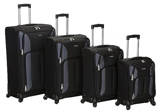 Amazon.com | Rockland Luggage Impact Spinner 4 Piece Luggage Set ...