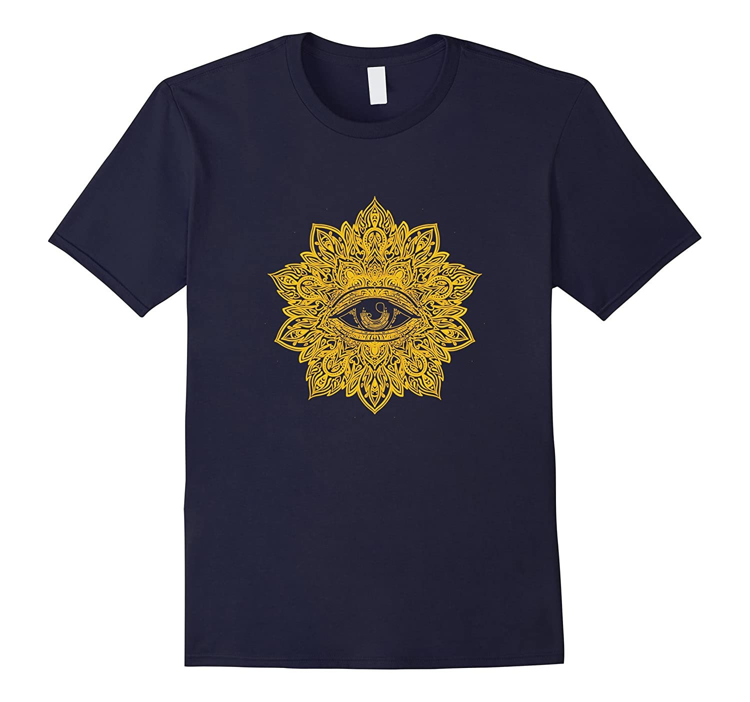 All Seeing Eye - Mandala Yoga T-shirt-PL