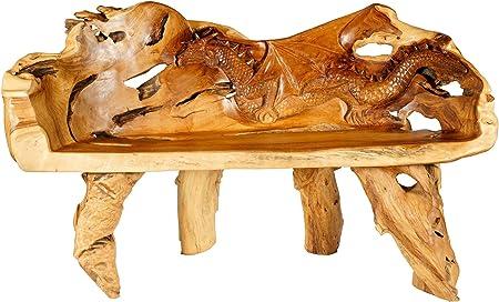 Windalf - Banco de madera para jardín (167 cm, hecho a mano, madera de raíz): Amazon.es: Hogar