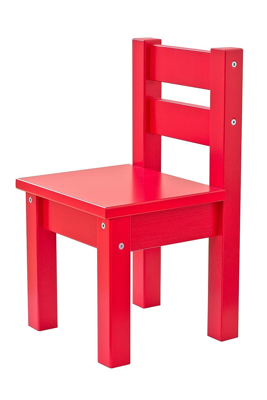 Hoppekids mit 1 Kindertisch und 2 Kinderst/ühle viele Farben Holz orange 55 x 50 x 47 cm teilmassiv sehr stabil