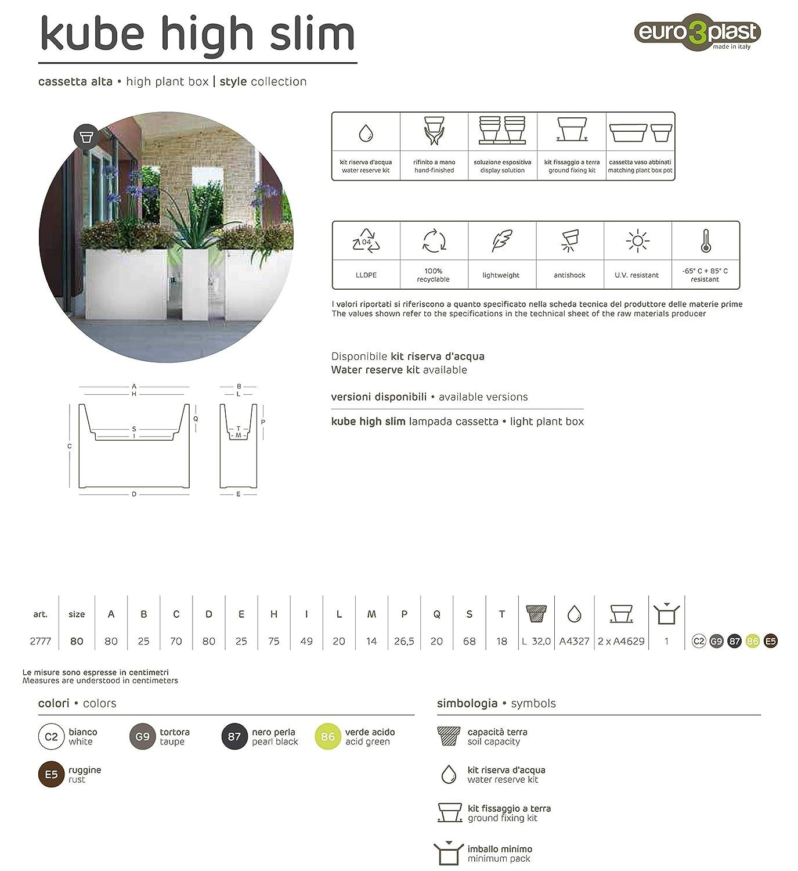 Cassetta Euro3plast Kube High Slim C2 bianco