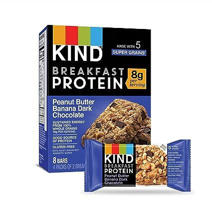 Amazon.com : KIND Breakfast Protein Bars, Gluten Free, Non GMO, 1.76 Oz, Peanut Butter Banana 32.0 Count : Garden & Outdoor