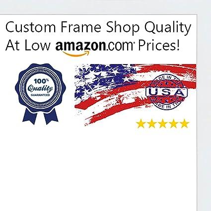 Amazon.com - Poster Palooza 24x30 Contemporary White Wood Shadow Box ...