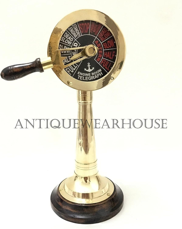 Nautical-Table-Top-Brass-Telegraph-Handmade-Vintage-Ship-Engine-Room-Telegraph