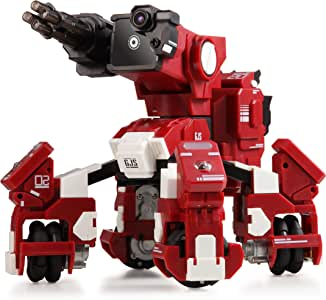 GJS Robot – GEIO Gaming Robot, App-Connected Program Robotic, STEM Educational Robots for Kids to Learn Coding, 8 Modes in 1(Red)