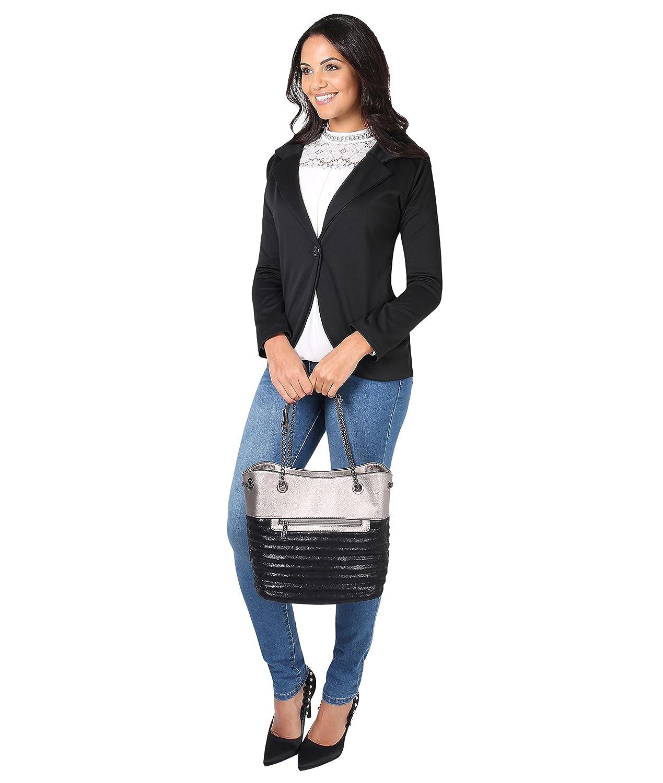 00b89b3241c3d2 KRISP Damen Blazer Jacke aus Weichem Stoff oder im Wildleder Stil:  Amazon.de: Bekleidung