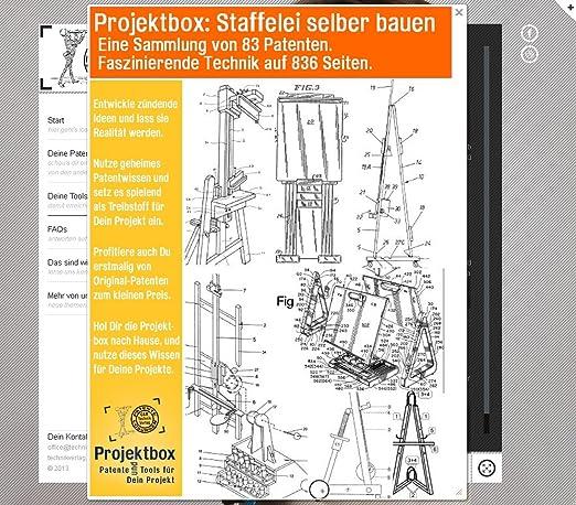 Staffelei Selber Bauen Deine Projektbox Inkl 83 Original Patenten Bringt Dich Mit Spass Ans Ziel Amazonde Software