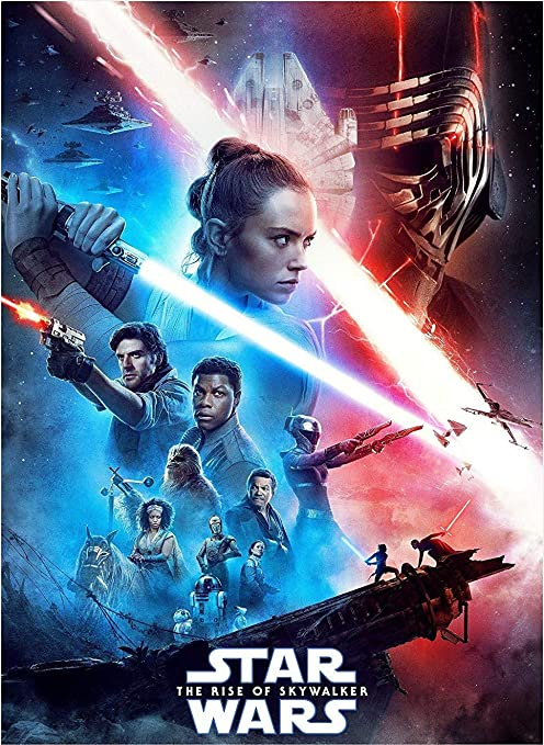 Amazon Com Star Wars The Rise Of Skywalker Poster 2019 Movie Wall Decor Art Print 24x36 Inch Ready To Paste Home Kitchen