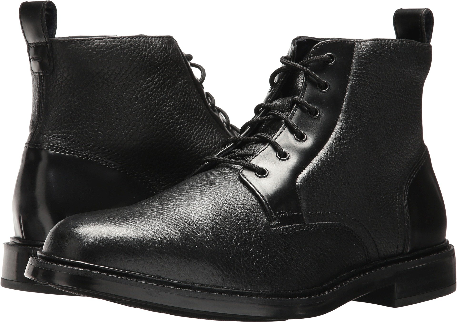 Cole Haan Men's Adams Grand Demiboot, Black Tumble/Box, 8 Medium US